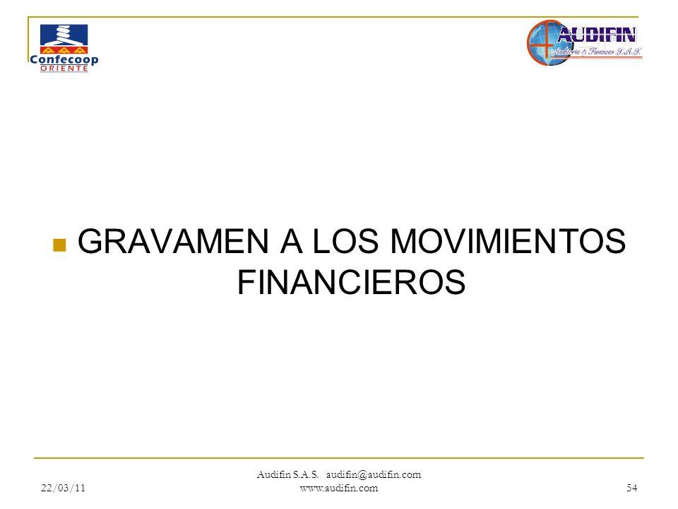 GRAVAMEN A LOS MOVIMIENTOS FINANCIEROS