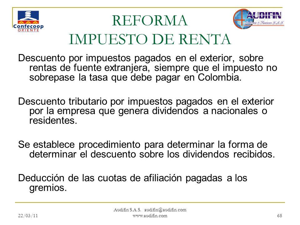 REFORMA IMPUESTO DE RENTA