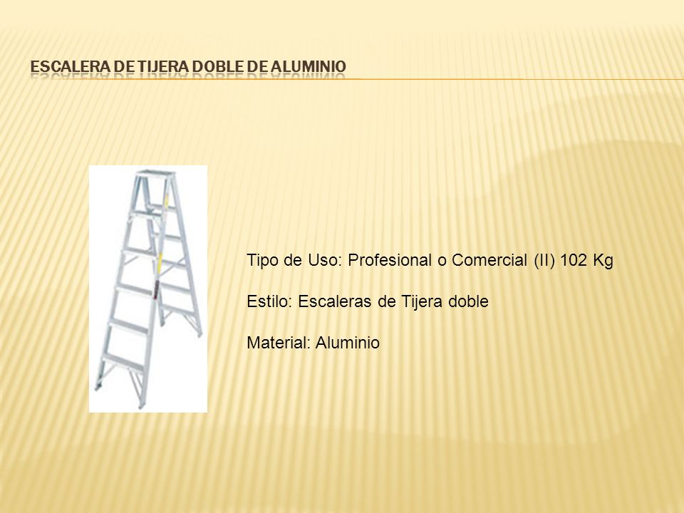 Escalera de Tijera Doble de Aluminio