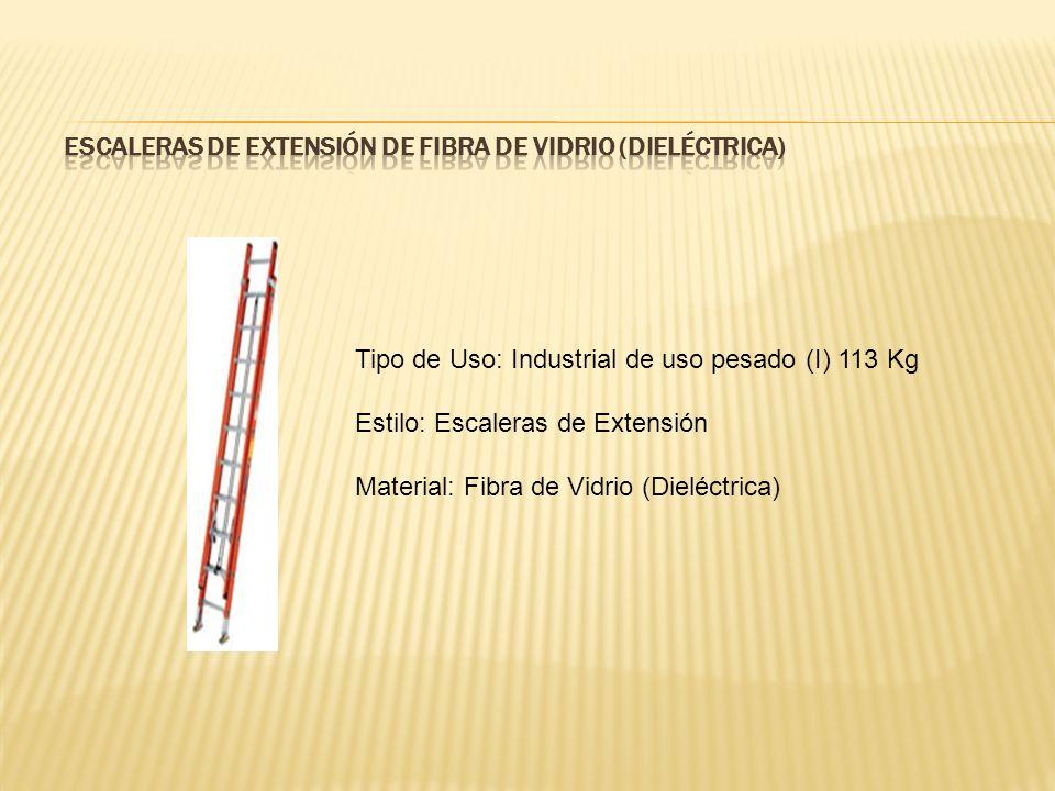 ESCALERAS DE EXTENSIÓN DE FIBRA DE VIDRIO (DIELÉCTRICA)