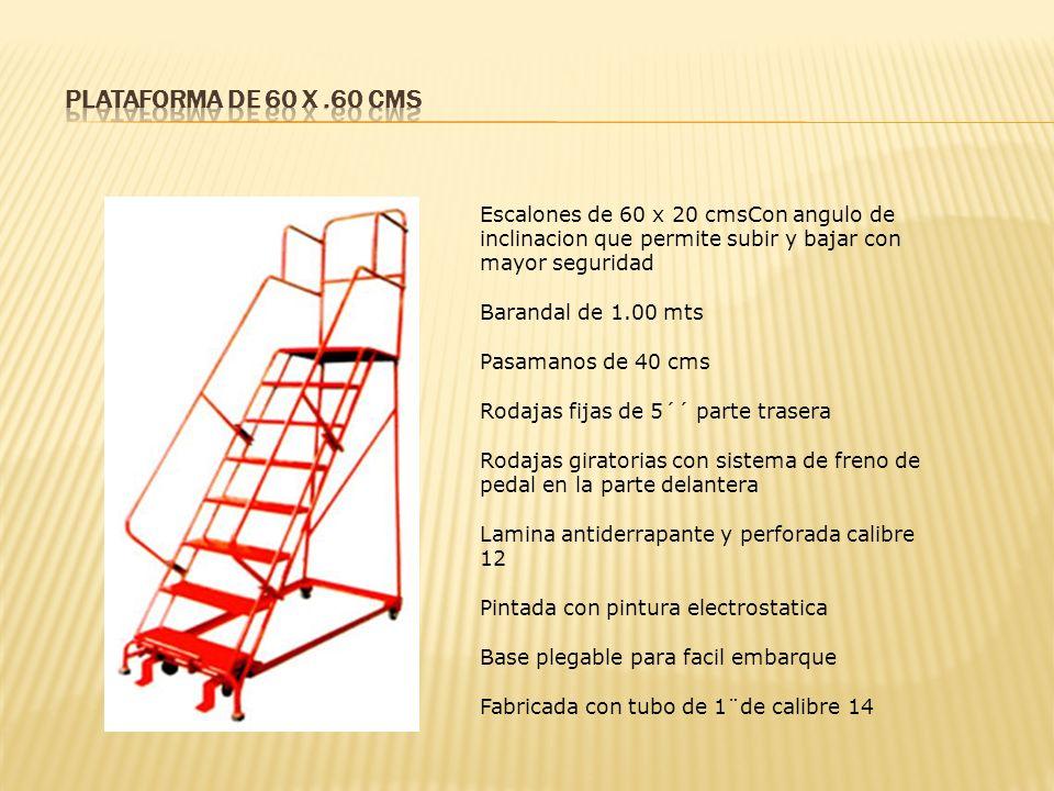 Plataforma de 60 x .60 cms