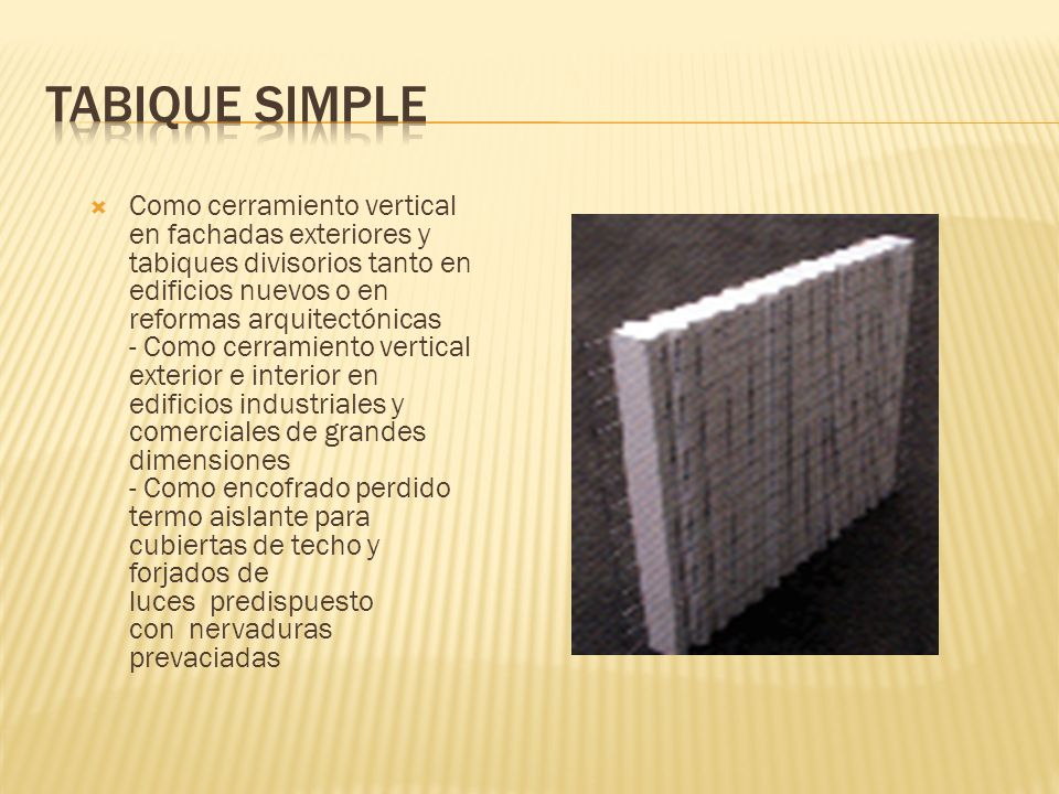 Tabique simple