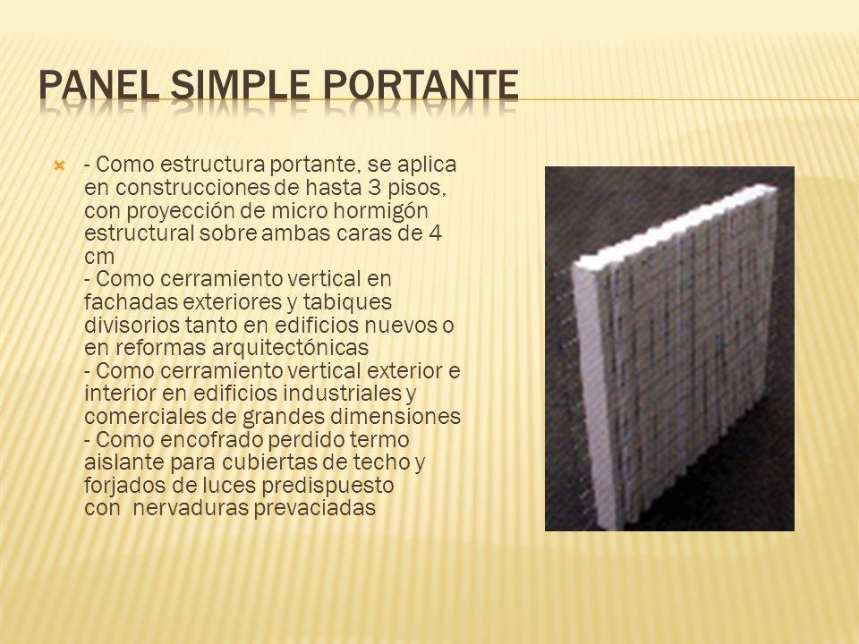 Panel simple portante