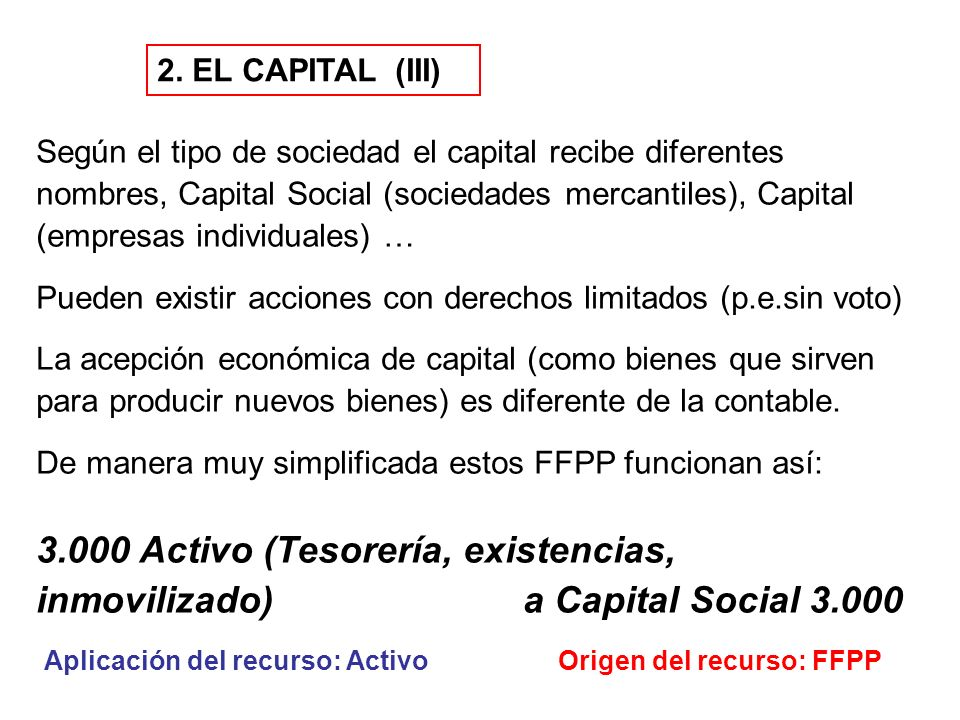 2. EL CAPITAL (III)