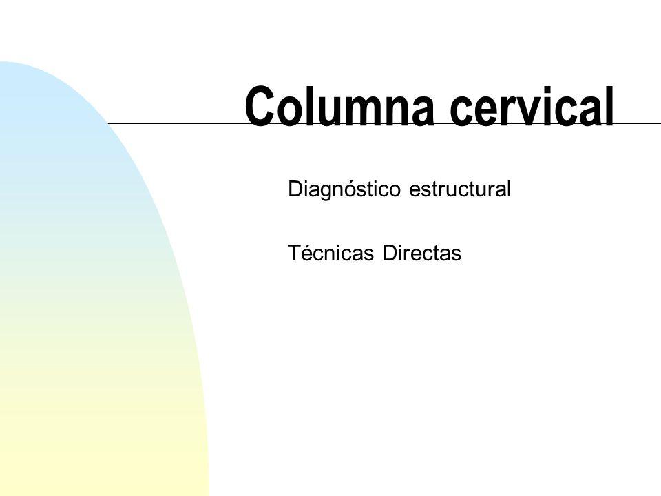 Diagnóstico estructural Técnicas Directas