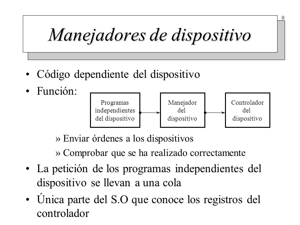 Programas del S.O independientes del dispositivo