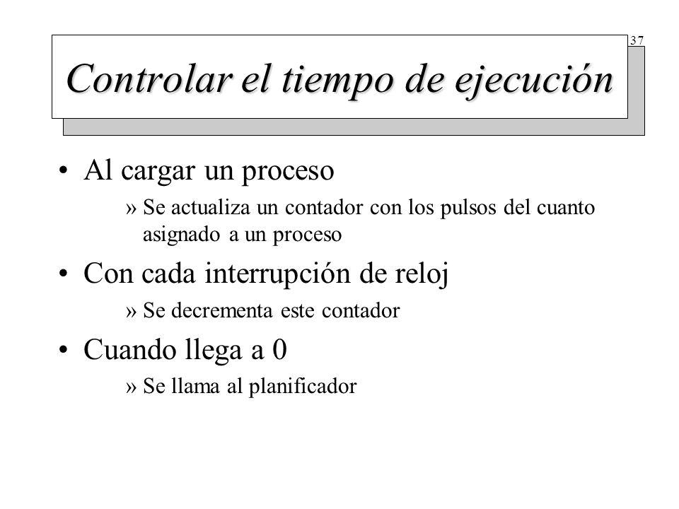 Temporizadores Para avisar a los procesos (señal, mensaje...)