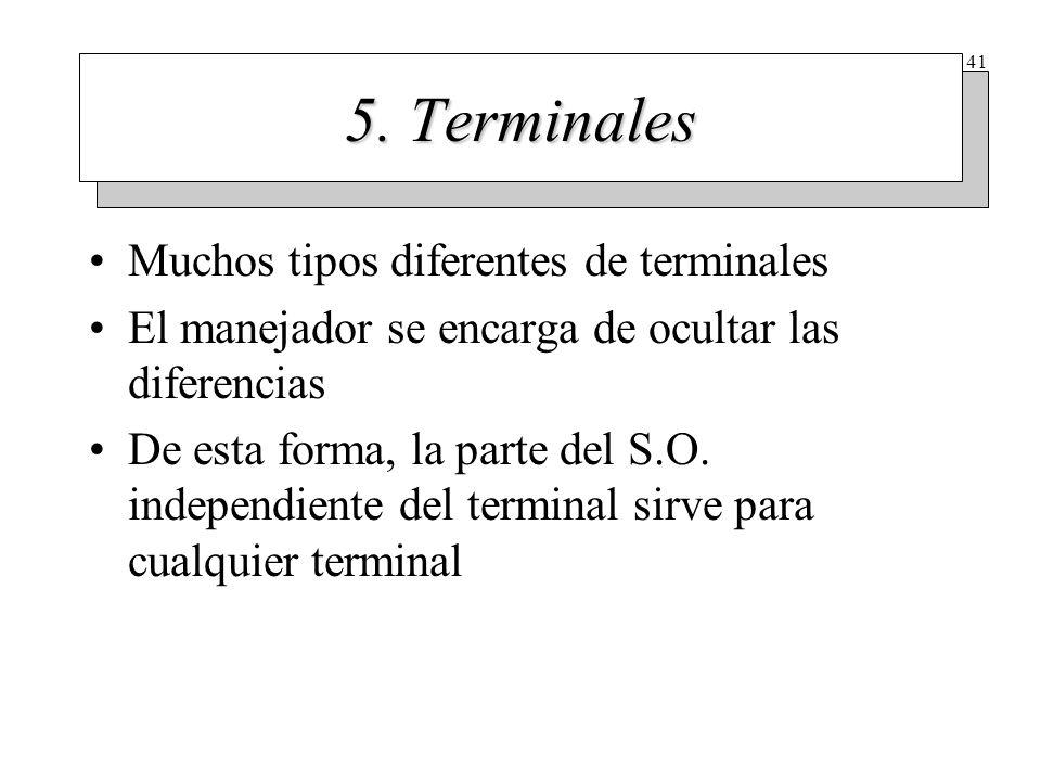 Hardware del terminal Desde el punto de vista del S.O. hay dos tipos diferentes de terminales. Terminales con interfaz RS-232.