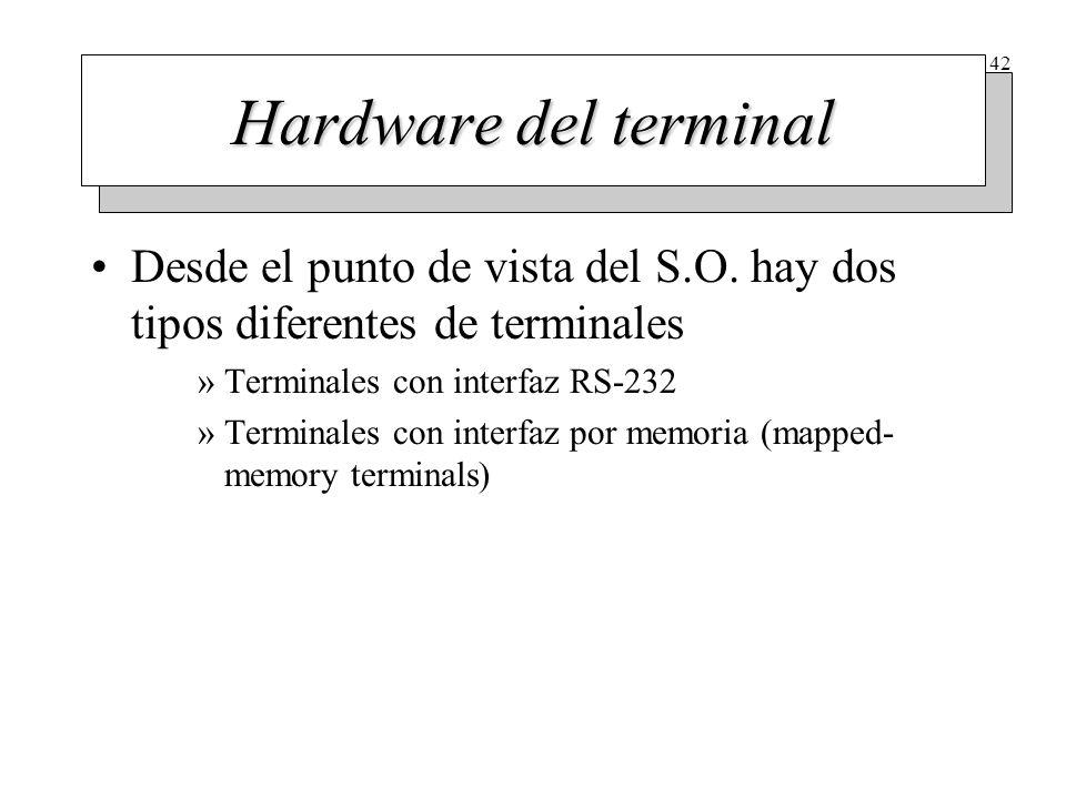 Terminales con interfaz RS-232