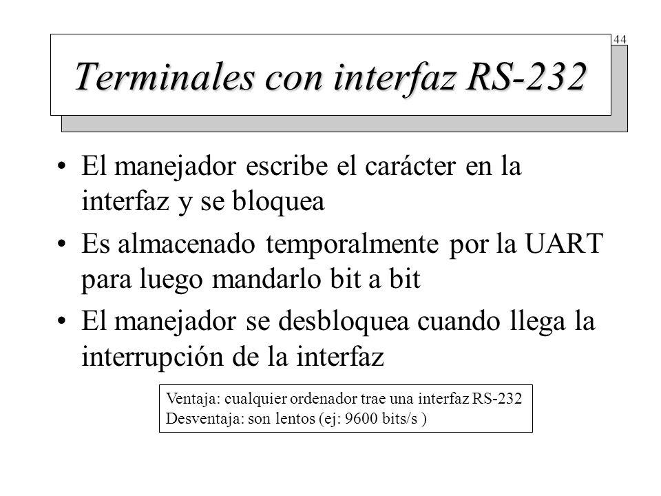 Categorías de terminales RS-232
