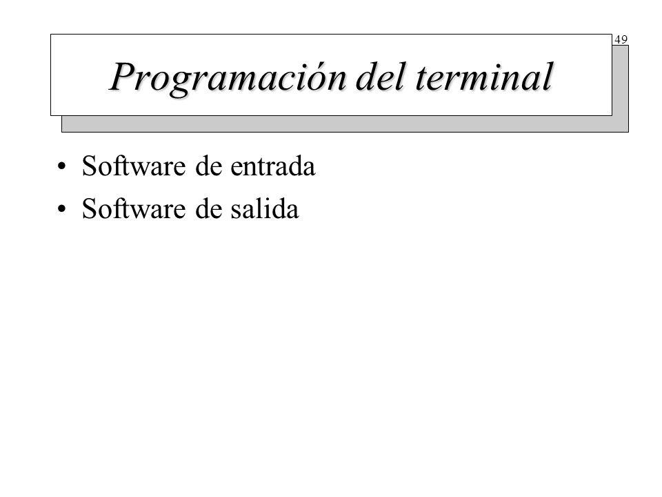 Software de entrada (I)