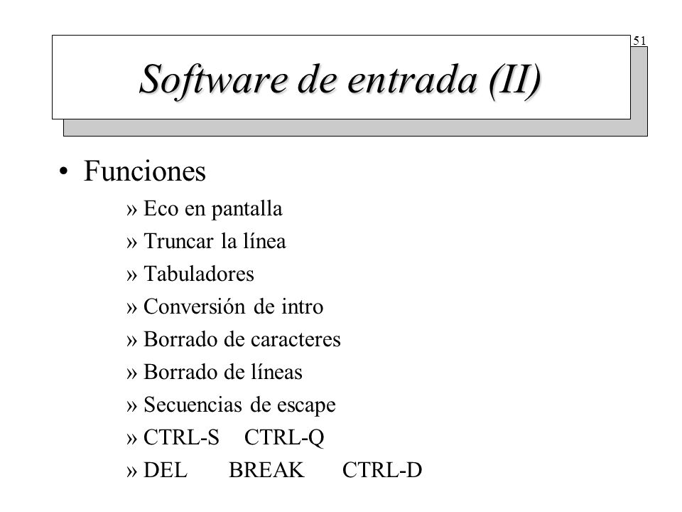 Software de salida En terminales de interfaz RS-232