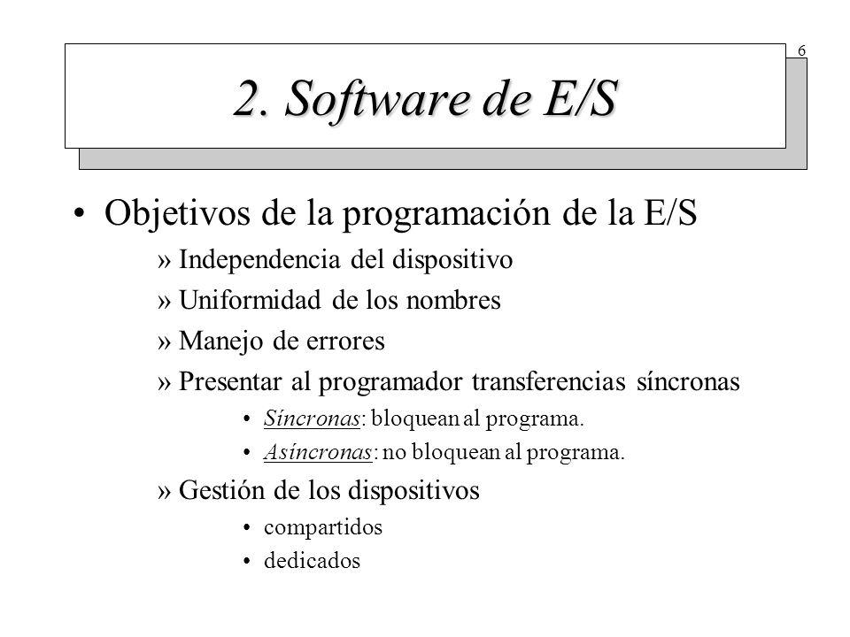 Niveles del software de E/S