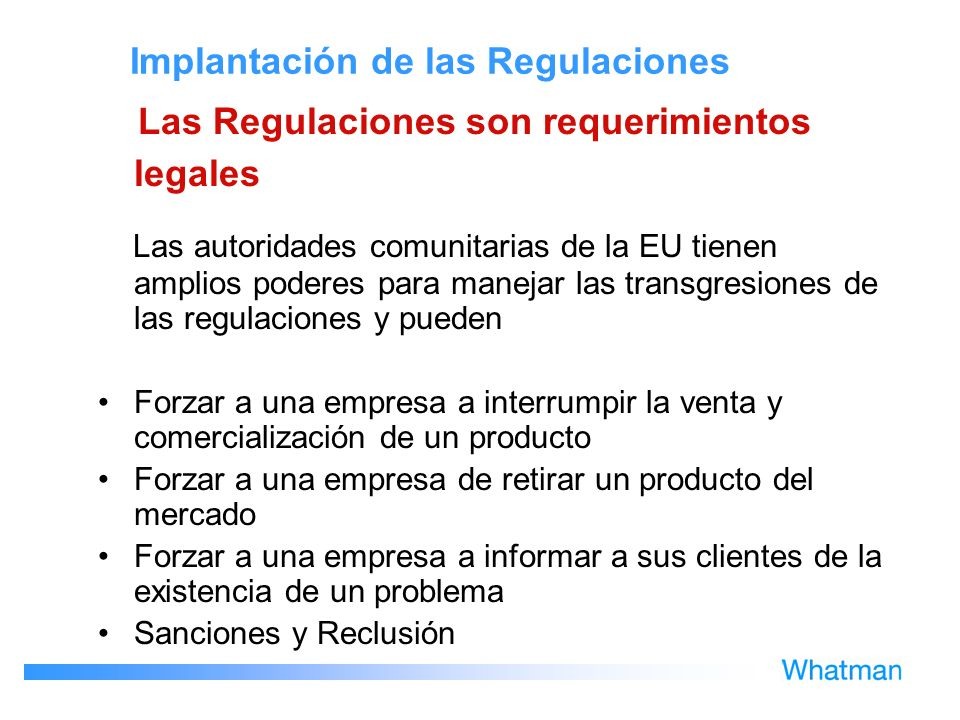 Implantación de las Regulaciones