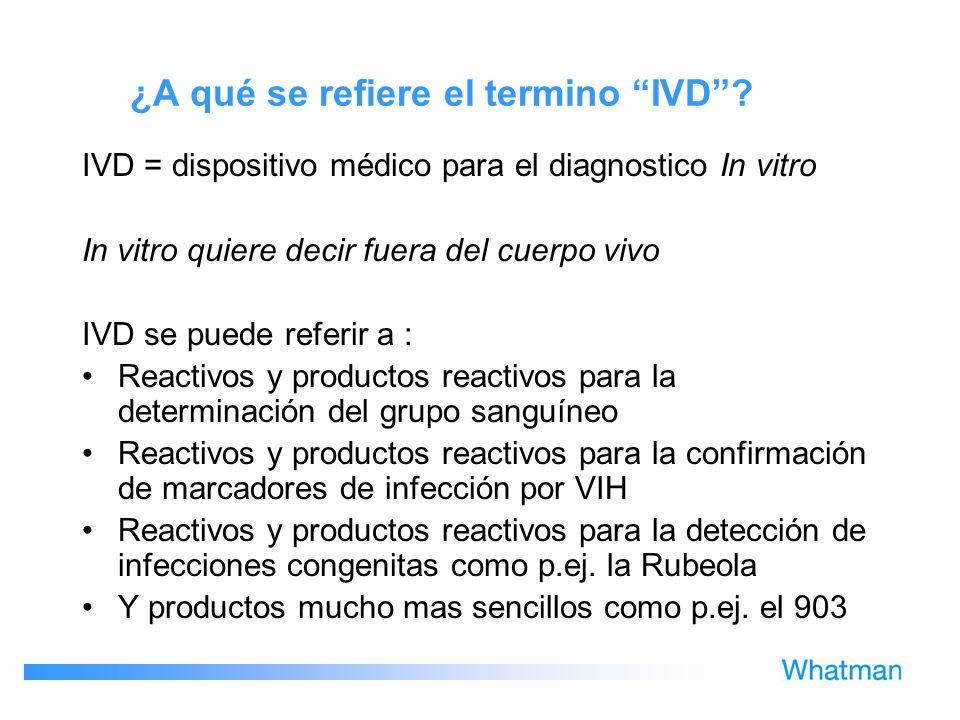 ¿A qué se refiere el termino IVD