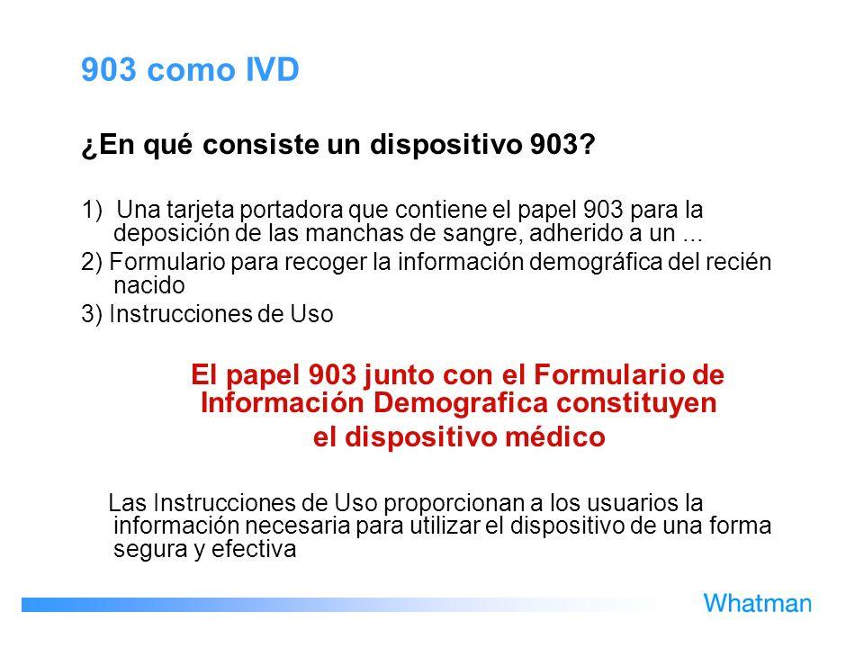 903 como IVD ¿En qué consiste un dispositivo 903