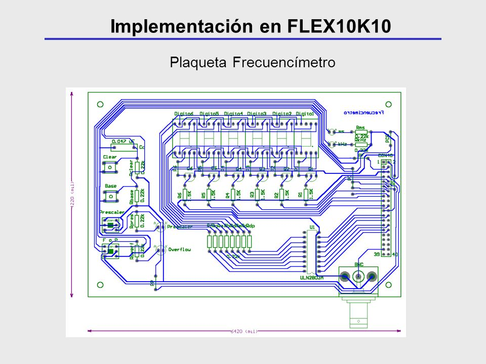 Implementación en FLEX10K10