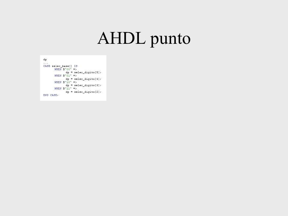 AHDL punto