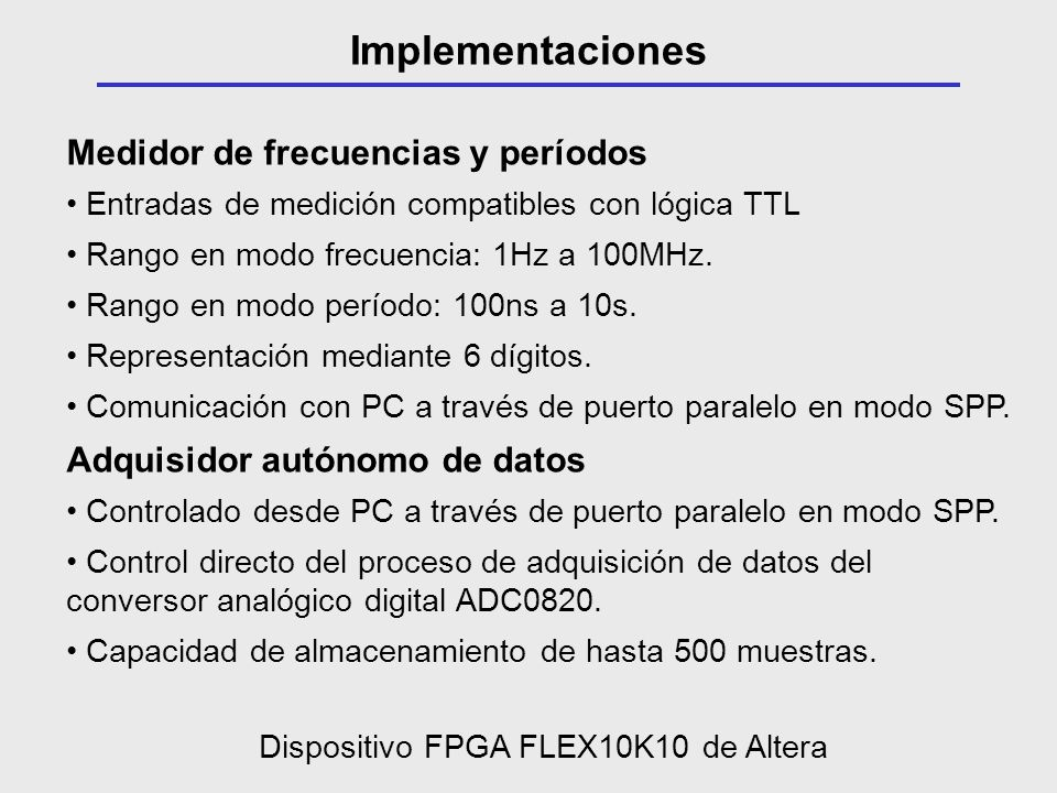 Dispositivo FPGA FLEX10K10 de Altera