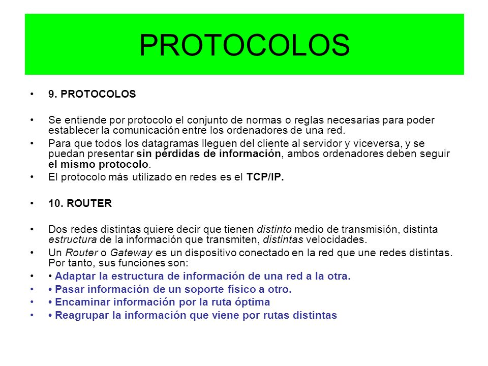 PROTOCOLOS 9. PROTOCOLOS