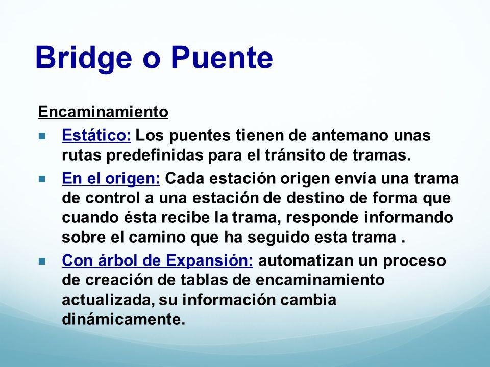 Bridge o Puente Encaminamiento