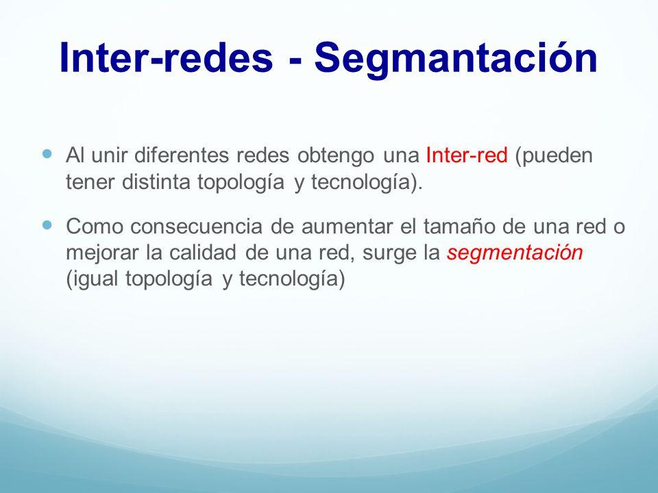 Inter-redes - Segmantación