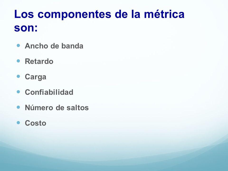 Los componentes de la métrica son: