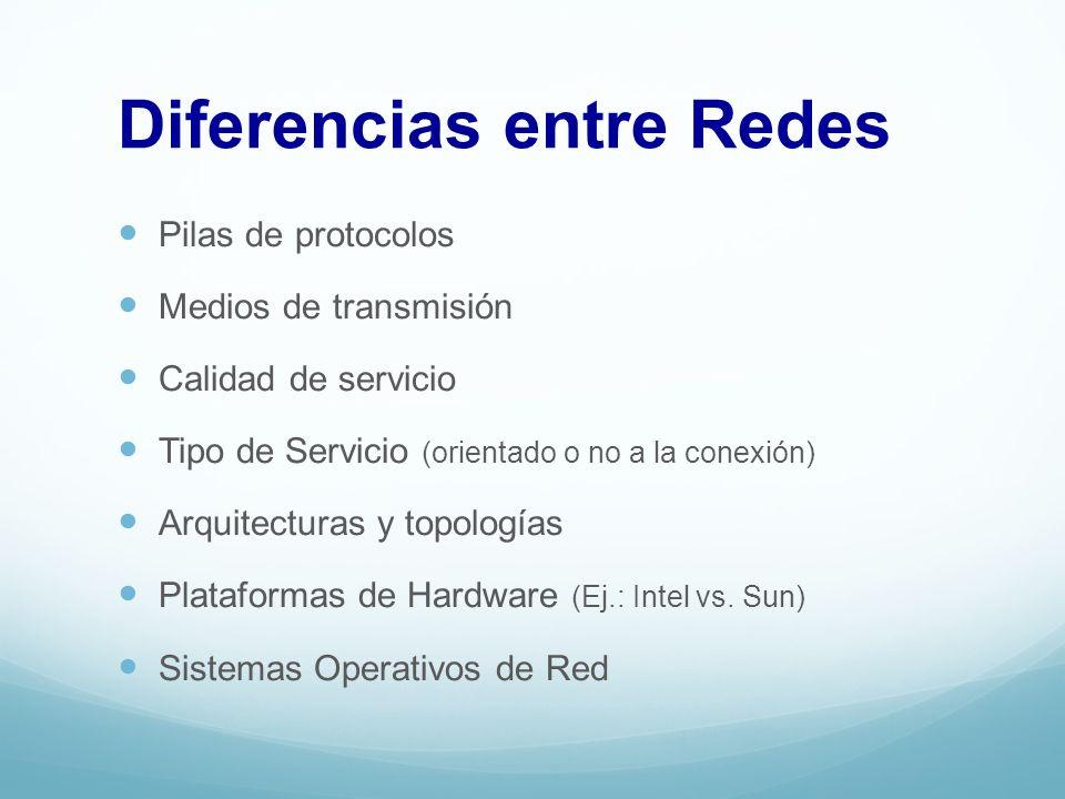 Diferencias entre Redes
