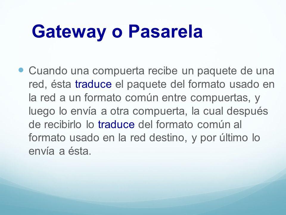 Gateway o Pasarela