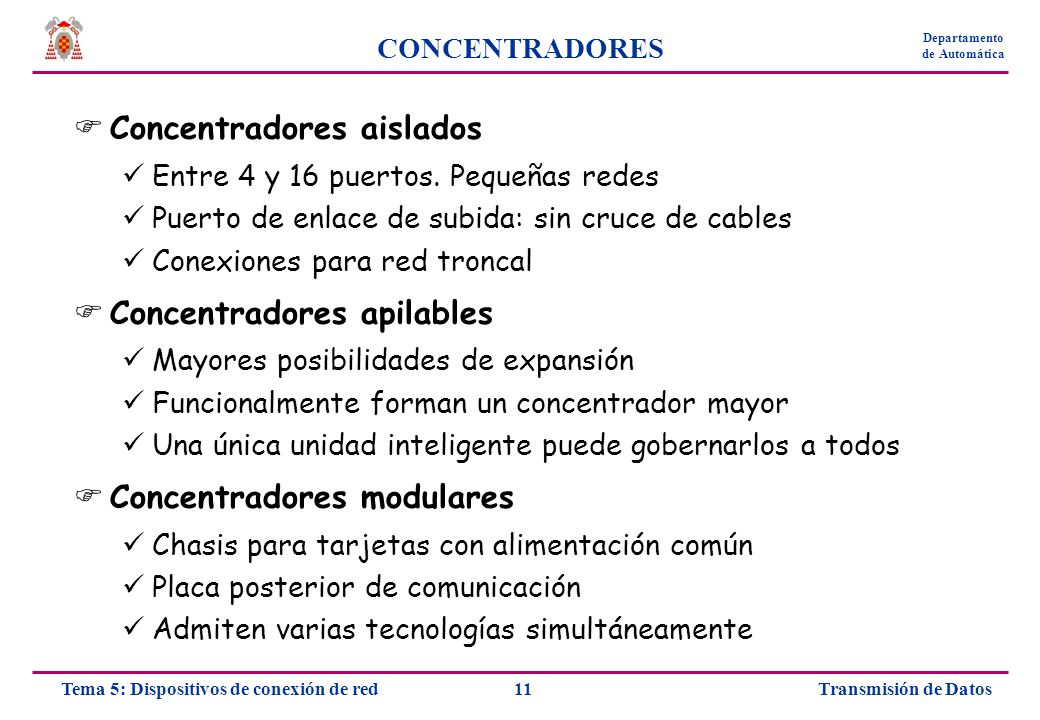 Concentradores aislados