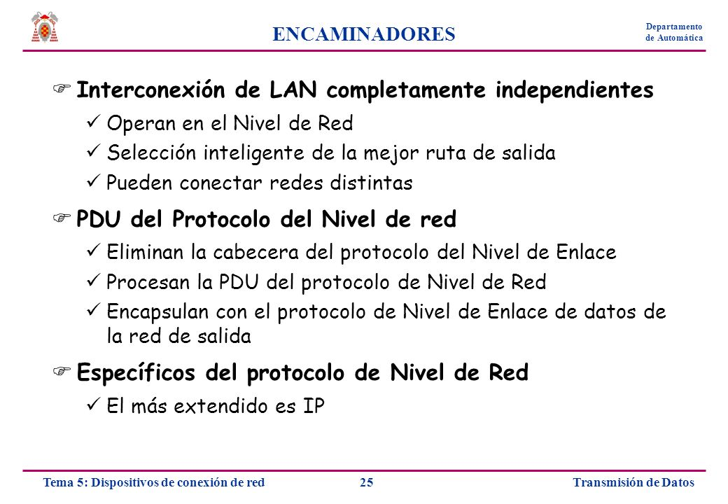 Interconexión de LAN completamente independientes