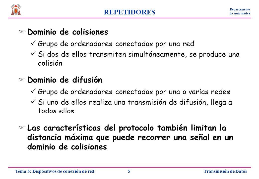 Dominio de colisiones Dominio de difusión
