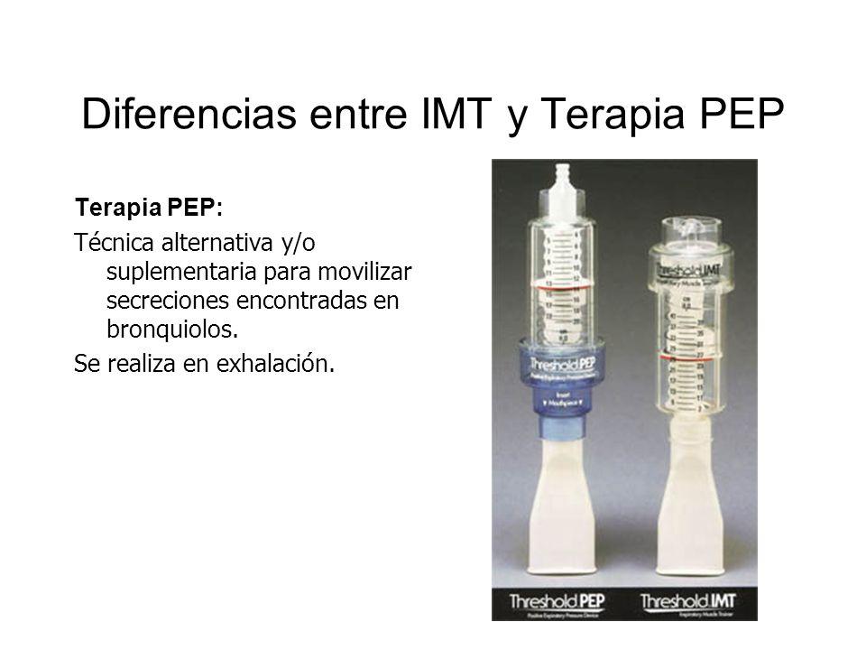 Diferencias entre IMT y Terapia PEP