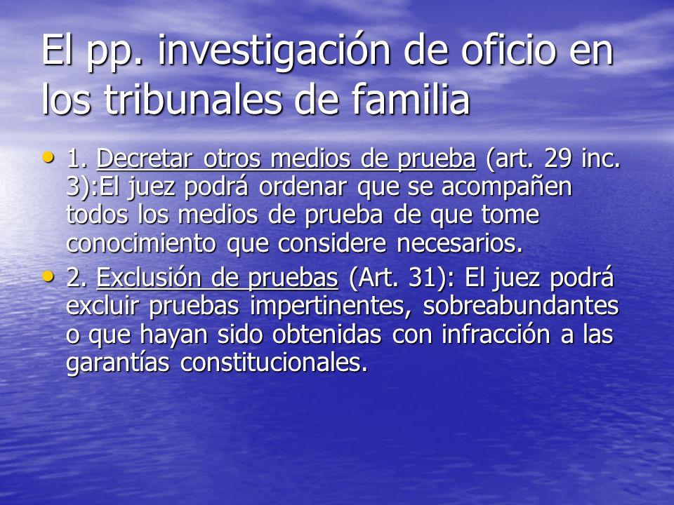 El pp. investigación de oficio en los tribunales de familia