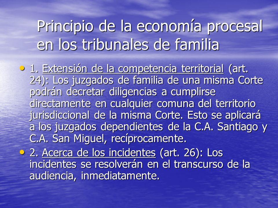 Principio de la economía procesal en los tribunales de familia