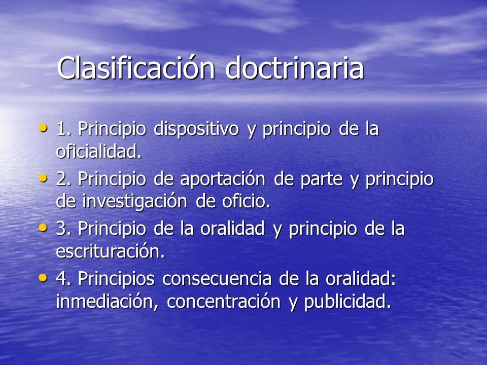 Clasificación doctrinaria
