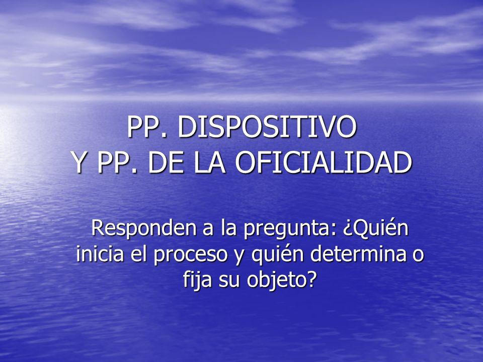 PP. DISPOSITIVO Y PP. DE LA OFICIALIDAD