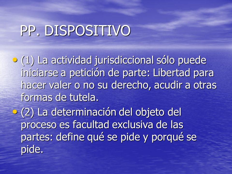PP. DISPOSITIVO