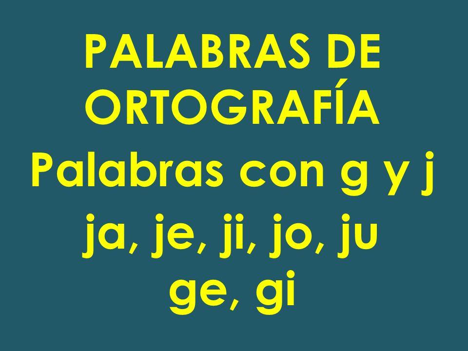 PALABRAS DE ORTOGRAFÍA
