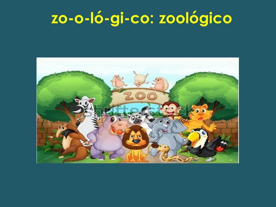 zo-o-ló-gi-co: zoológico