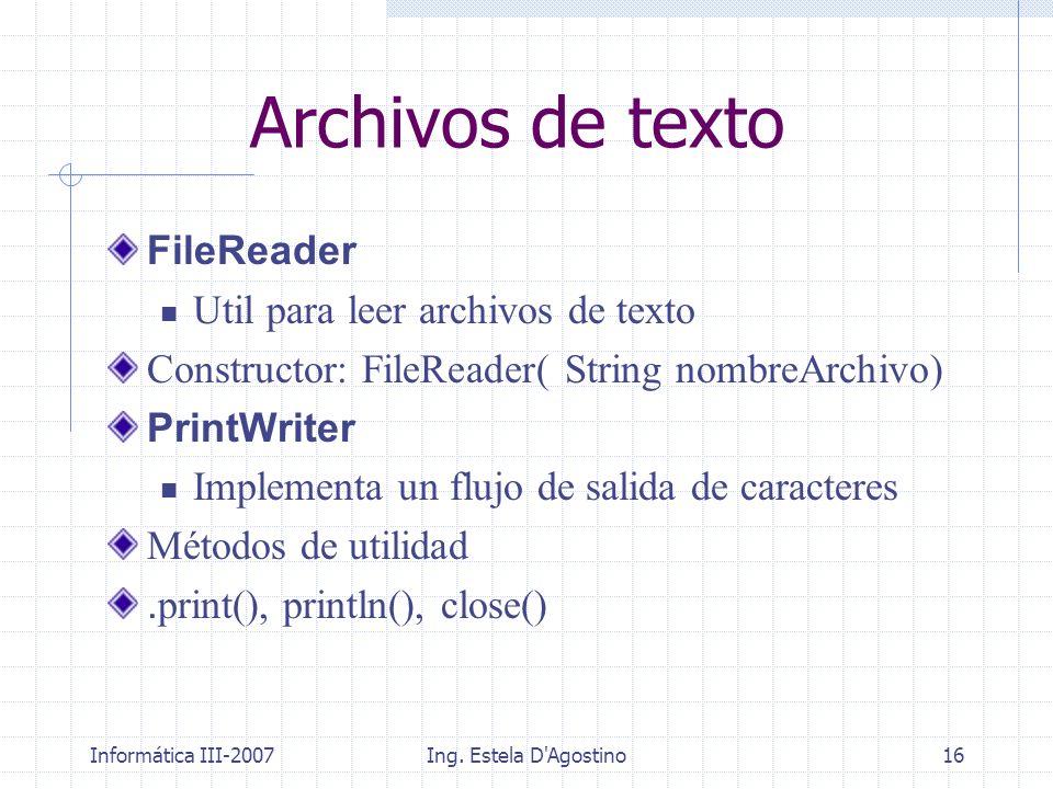 Archivos de texto FileReader Util para leer archivos de texto