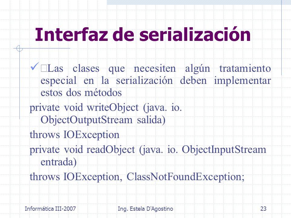 Interfaz de serialización