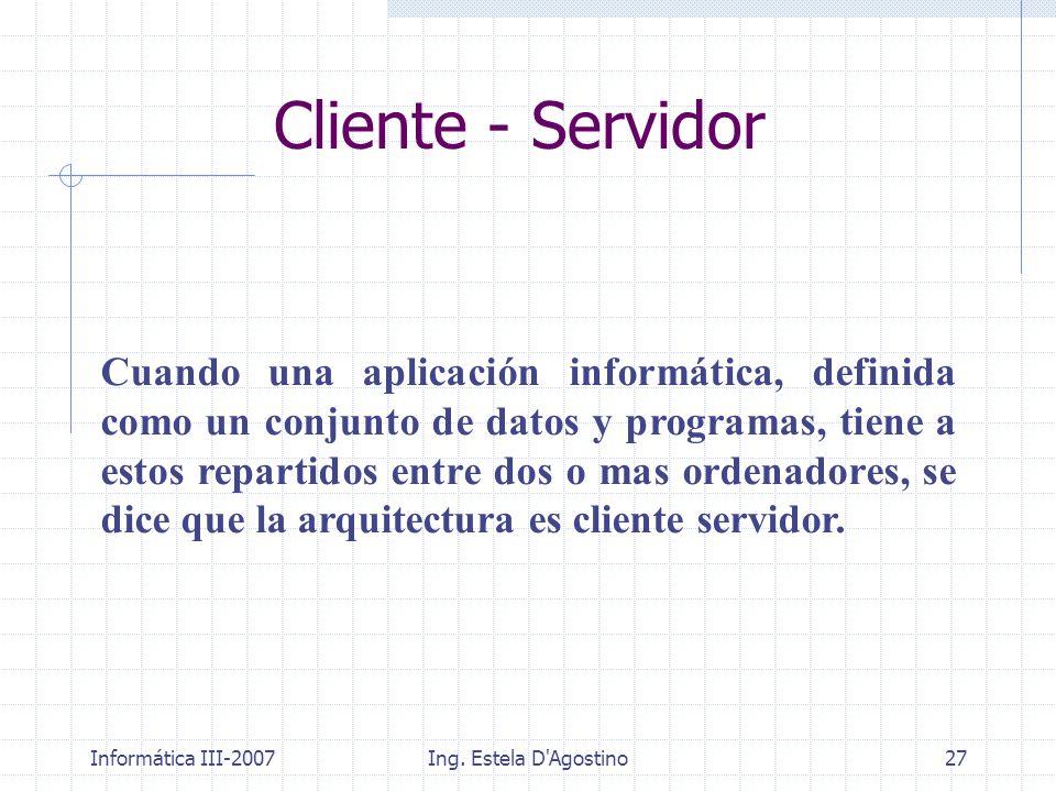 Cliente - Servidor