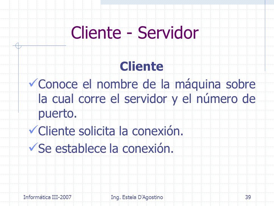 Cliente - Servidor Cliente
