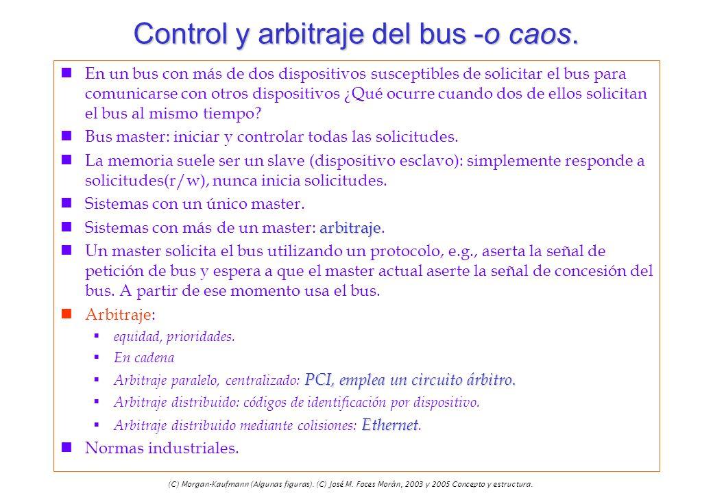 Control y arbitraje del bus -o caos.
