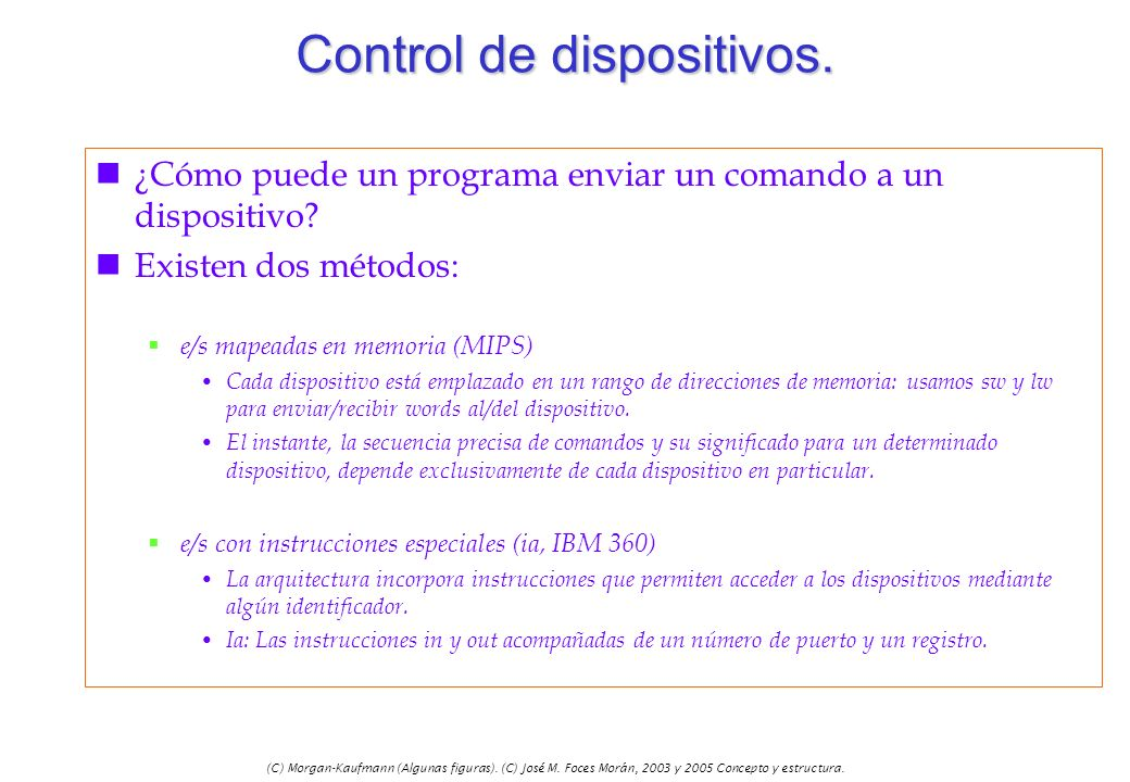 Control de dispositivos.