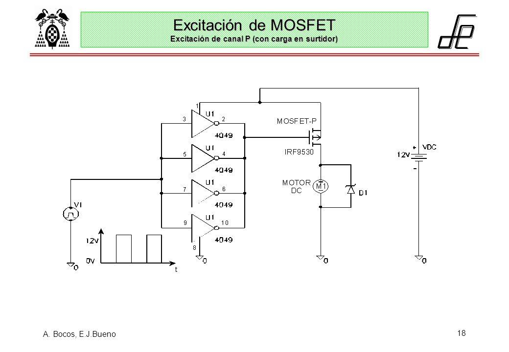 Excitación de MOSFET Excitación de canal P (con carga en surtidor)