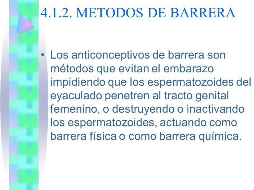 4.1.2. METODOS DE BARRERA