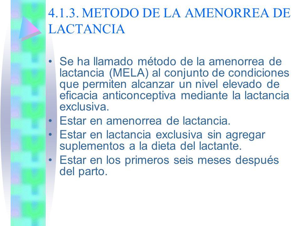 4.1.3. METODO DE LA AMENORREA DE LACTANCIA