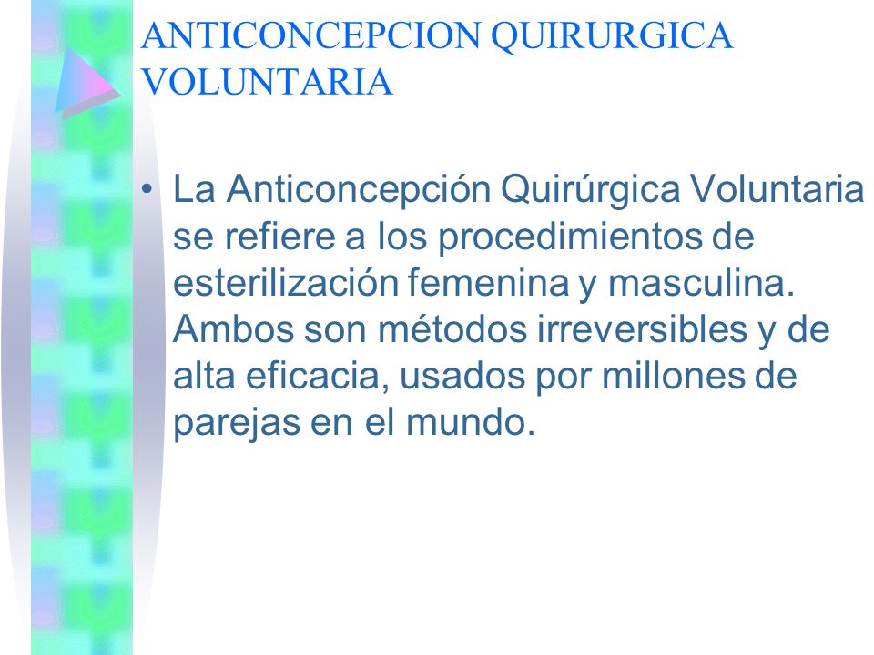 ANTICONCEPCION QUIRURGICA VOLUNTARIA